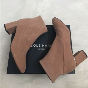 NEW wBox-COLE HAAN Mocha Mousse Booties 7.5